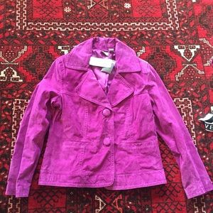 NEW NWT Chico's 100% Leather Jacket Size 1 or S